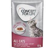 Concept for Life 48 x 85 g Concept for Life All Cats - in Saus Kattenvoer