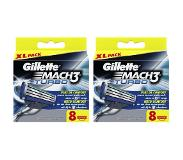 Gillette Mach3 Turbo scheermesjes new (16 st.)