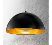 FABAS LUCE Tweekleurige hanglamp Dingle zwart-goud