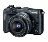 Canon EOS M6 + EF-M 15-45mm 3.5-6.3 IS STM 24.2MP CMOS 6000 x 4000Pixels Zwart