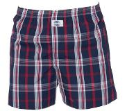 Deal Boxershort, Check Blue / Red 100% (Rood, Blauw, Wit, XXL)