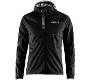 Craft Repel Jkt M 1905416 - Hardloopjas - Black/Silver Reflective - Heren - Maat L