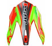 JUST1 J32 Pro Helmklep-Just1 J32 Pro Rave Red/Lime