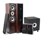 Skytronic 5.1 home cinema surround walnoot speakerset 1300W met 8 subwoofer