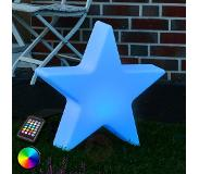 8Seasons LED-decoratielamp RGB Shining Star, 40 cm