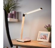 LINDBY Led bureaulamp Kuno, USB-poort LED