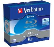 Verbatim 1x5 BD-R Blu-Ray 25GB 6x Speed Datalife No-ID Jewel